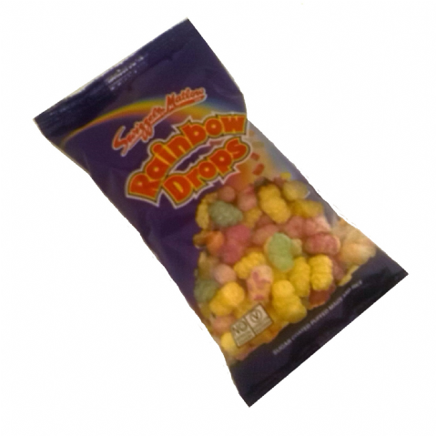 Rainbow Drops Puffed Rice Candy - Swizzels Matlow Sweets Fun Size Bag 10g